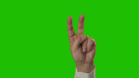 Hand sign: The symbol of victory. 11 in 1 Footage