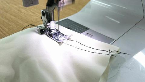 Zigzag stitching with sewing machine Footage