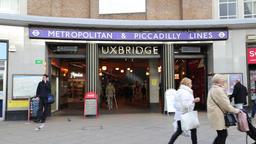 Uxbridge underground station Uxbridge London UK Footage