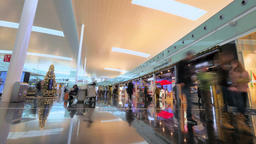 Barcelona Airport Marketplace in Christmas Footage
