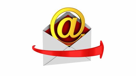 Animated email symbol Animation