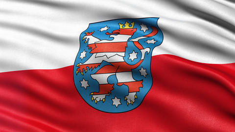 Thuringia state flag seamless loop Animation