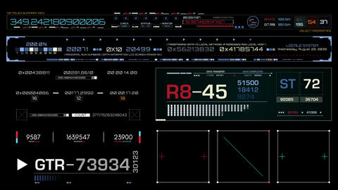 Futuristic Timecode Screen Animation