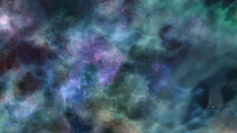 Blue-green Dark Space In Motion Animation