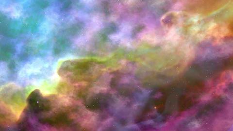Movement Of Colorful Space Nebula Animation