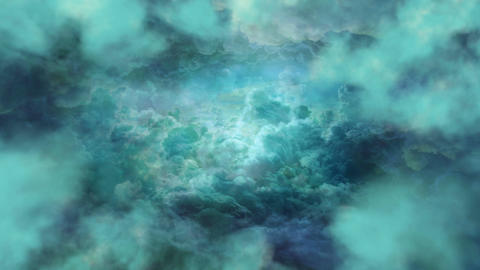 Emerald Clouds Background CG動画素材