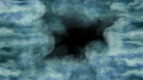 Blue Green Smoke with Alpha Channel HD Animation