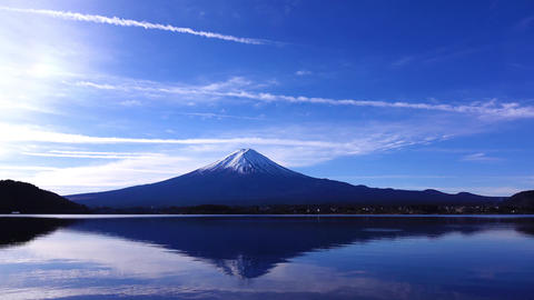 Upside down Fuji and a duck Footage