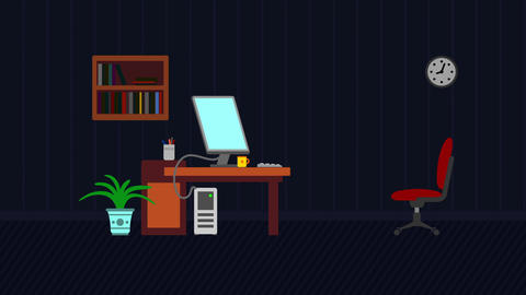 Conceptual successful idea man animation with lamp and... Stock Video Footage