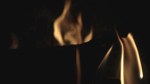 Fire burning in slow motion ビデオ