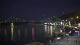 Evening in Kiev. Ukraine. Landscape of the Dnieper river Footage