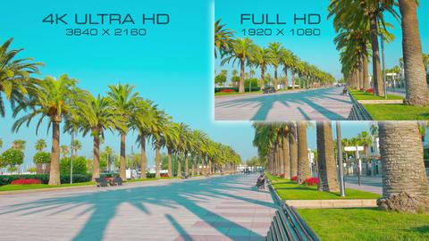 4K Ultra HD vs Full HD comparison tv resolution formats Stock Video Footage
