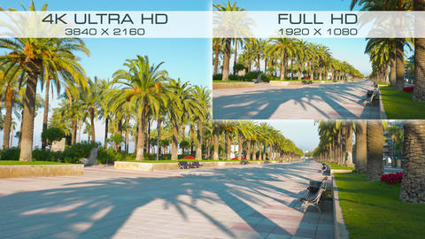 Compare new digital video standard 4K Ultra HD vs Full HD Live Action