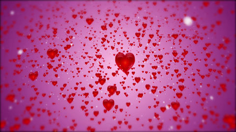 Falling hearts Animation