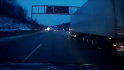 POV Driving a car. Dashcam record Footage