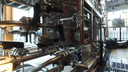 Modern technological brewery industrial equipment HD POV video. Beer brew Footage