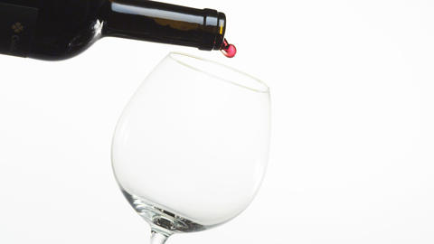 Pouring Red Wine into a Glass Footage