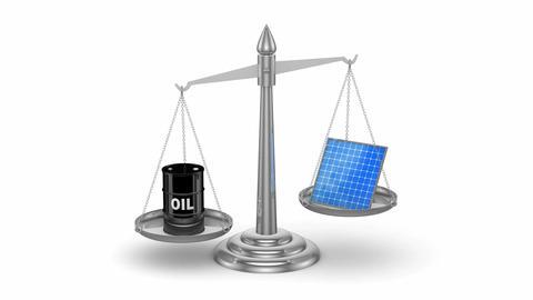 Oil vs Solar Panels Animation