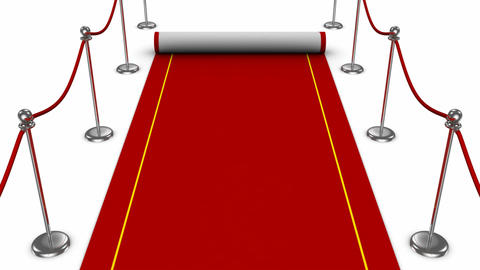 Animated red carpet unrolling Animation