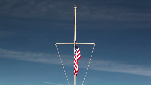 American flag waving in the wind Archivo