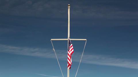 American flag waving in the wind ビデオ