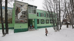 Office building of Kronotsky Nature Biosphere Reserve on Kamchatka Peninsula Footage
