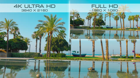 Resolution 4K Ultra HD and Full HD comparison Live Action