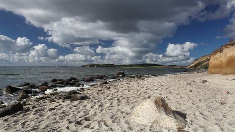On the dramatic coast of the Baltic Sea Footage