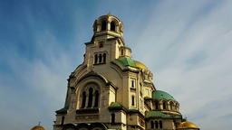 St. Alexander Nevsky Cathedral in the center of Sofia, capital of Bulgaria again Footage