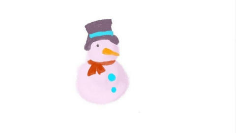 Process of drawing of a snowman Animation
