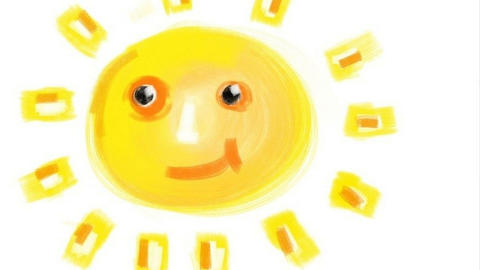 Drawing of sun Animation