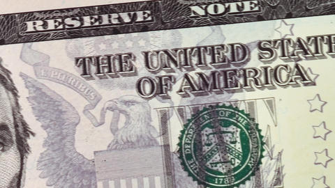 Five US dollars. Currency of the USA Animation