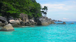 Tourist on the Similan Island Footage