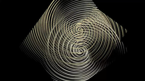 Luxury cropped golden spiral elements rotating in opposite direction Animation
