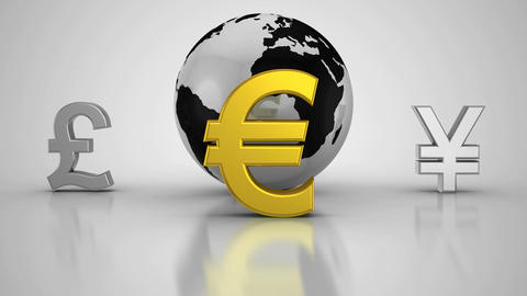 World currencies Animation
