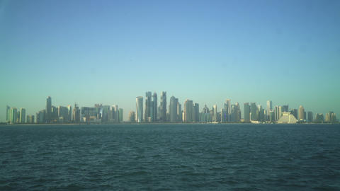 The Business Center Of Doha, Qatar Footage