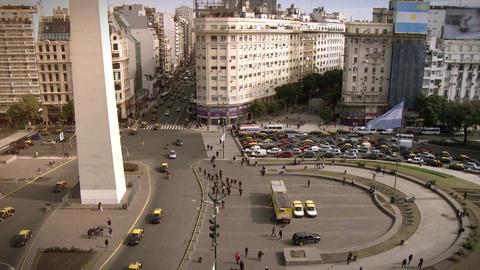 Obelisk in Buenos Aires Footage