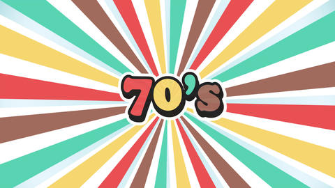 Old School 70s Vintage Motion Graphic Background Animación