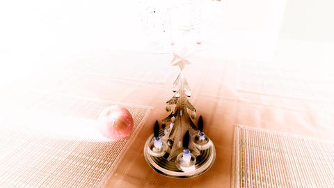 Christmas candle tree chimes with inversion filter