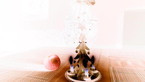Christmas candle tree chimes with inversion filter Image