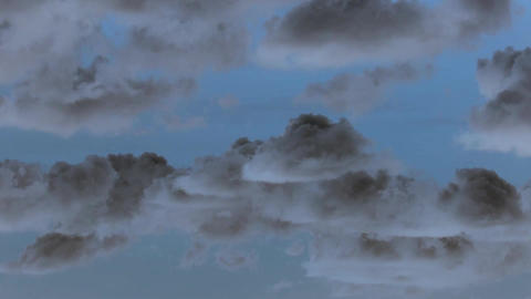 Sky with airplane timelapse with inversion filter ビデオ