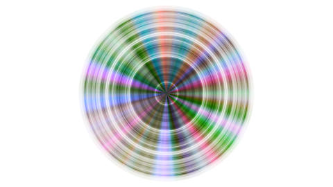 Metal disc with color reflections seamless loop with inversion filter GIF
