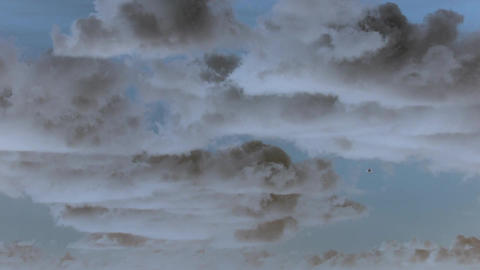 Sky with airplane timelapse with inversion filter Footage