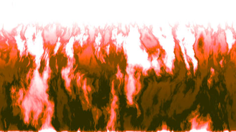Burning fire generated seamless loop with inversion filter Animation