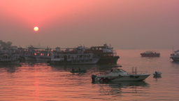 Mumbai harbor at sunrise Stock Video Footage