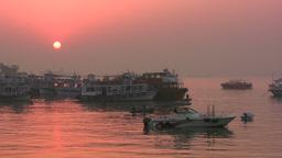 Mumbai harbor at sunrise Stock Video Footage