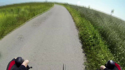Rider view on a bycicle Stock Video Footage