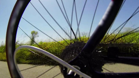 Detail view on a bycicle gear system Stock Video Footage