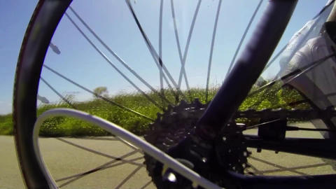 Detail view on a bycicle gear system Footage