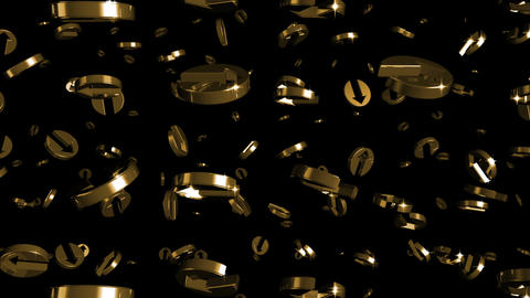 Looping Silver and Gold Arrows Falling Stock Video Footage